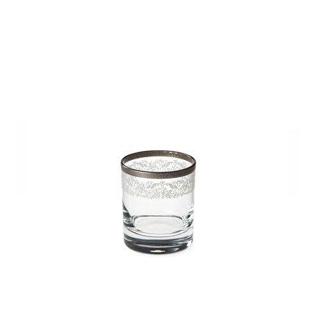 Bridal Platinum Viski Bardağı / Whiskey Glass #bernardo #tabledesign #glass #platinum #scotch