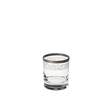 Bridal Platinum Viski Bardağı / Whiskey Glass #bernardo #tabledesign #glass #platinum #scotch