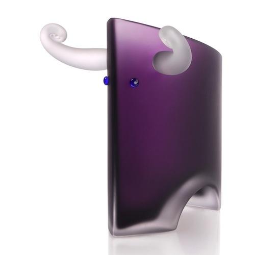ANGUS, vase in bull shape, Studio Line Coll. (size 35x40cmH) - Borowski Art Glass