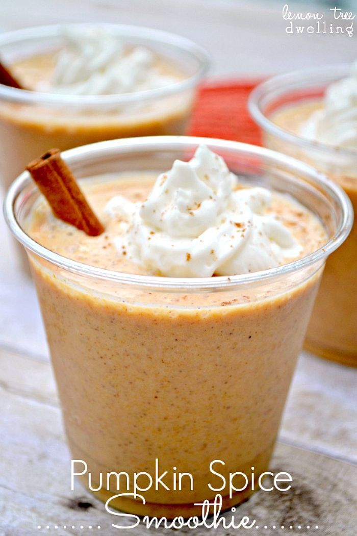 Pumpkin Spice Smoothies - all the pumpkin spice flavors you love, in a smoothie!
