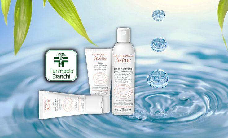 Eau Thermale #Avène : la linea specifica per pelli intolleranti. Lozione detergente e creme lenitive.