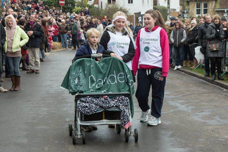 Sutton Valence New Year's Day Pram Race 2015 The Dandelion Time Pram photography by John Stairns