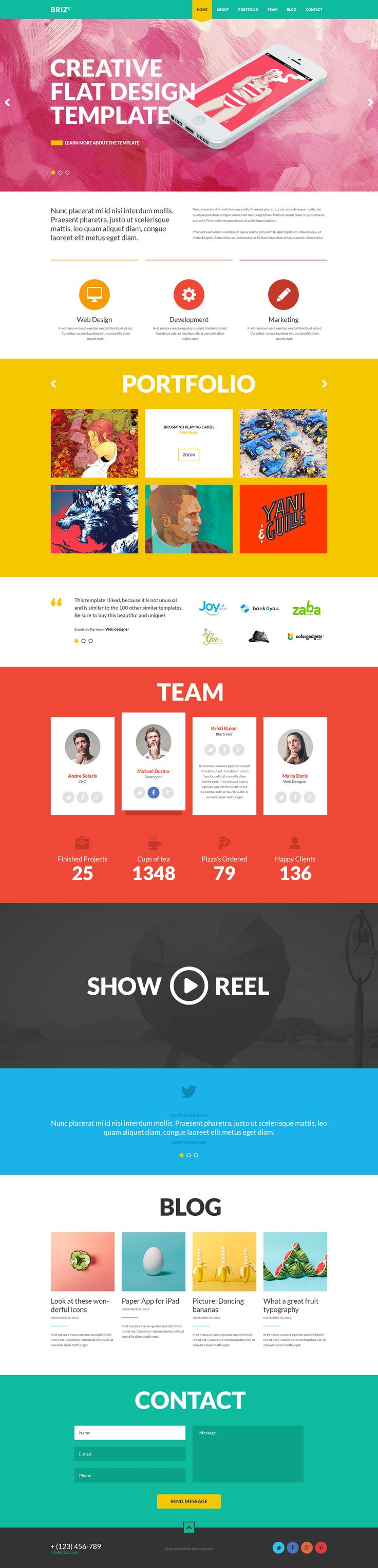 BRIZZZ - #Flat #OnePage #HTML #Template