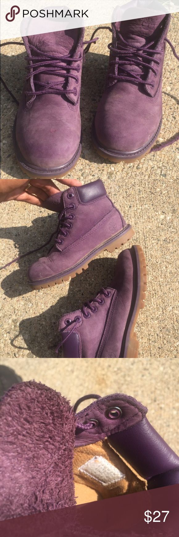 Girls purple timberlands - size 12 Used and not new. Kids, girls size 12 Timberland Shoes Boots
