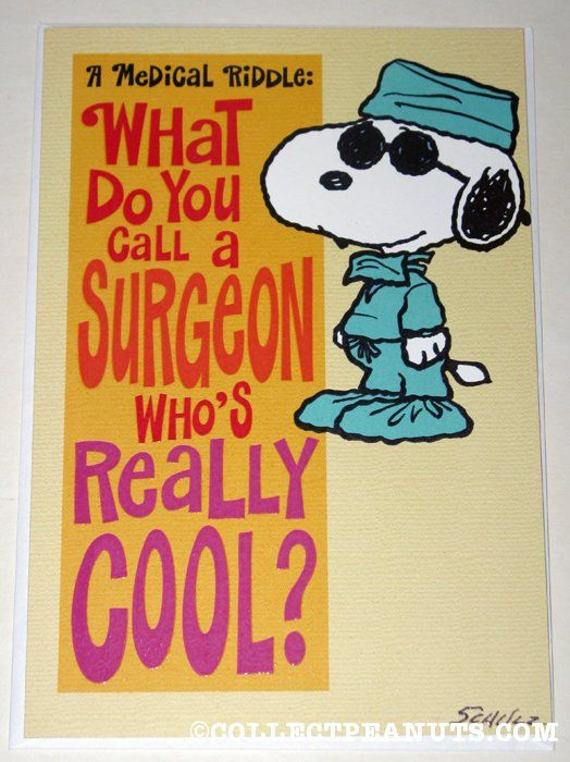 Doctor Snoopy Riddle Greeting Card