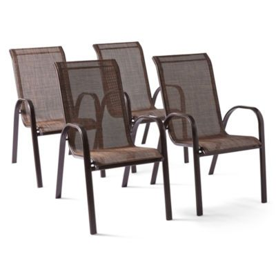 Hambrick Set Of 4 Sling Stacking Chairs   JCPenney