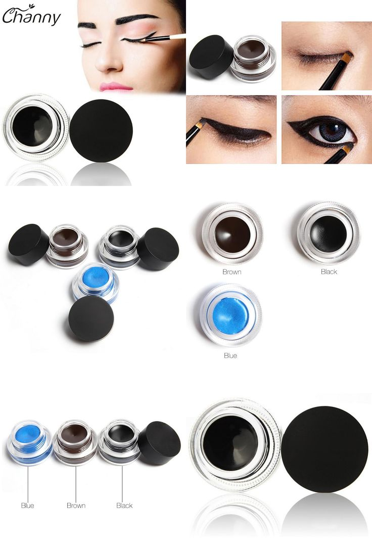 [Visit to Buy] Gel Eyeliner by Music Flower Water-proof And Smudge-proof Cosmetics Set Eye Liner Kit in Eye Makeup for Party Swimming Makeups #Advertisement