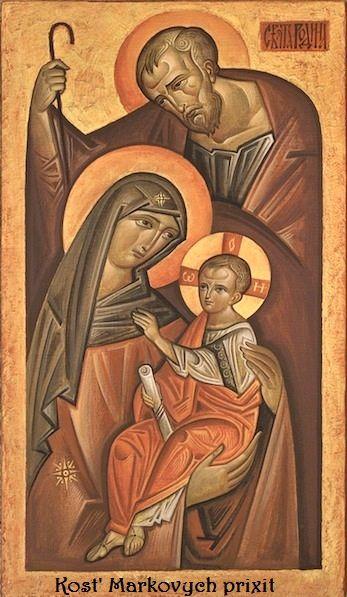 Ikona Święta Rodzina - na podstawie Kostko Markowych'a