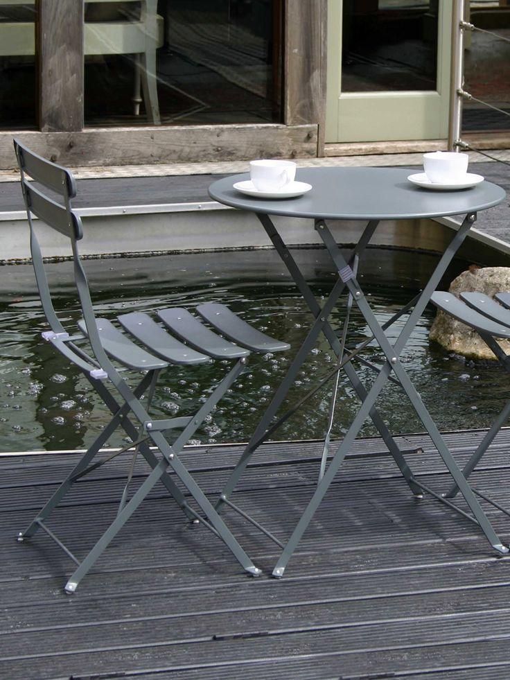 Metal bistro set grey cox cox for the home pinterest grey bistros and metals - Bistro sets for small spaces collection ...
