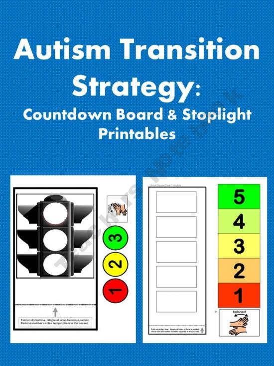 the transition of a child with autism Research indicated that the use of a visual timer (such as the time timer pictured below and available at timetimercom) helped a student with autism transition successfully from computer time to work time at several points throughout the day (dettmer, simpson, myles, & ganz, 2000) this timer displays a section of red indicating an allotted time.