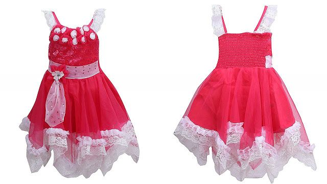 844a7c557fe6 Wish Karo Baby Girls Party Wear Frock Dress DN (fr089p)