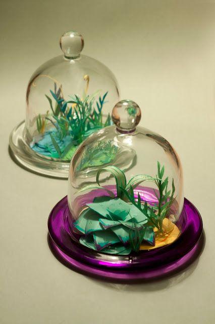 Pikczer For Ticzer: Sukulenty bell jar, jar, klosz, papercut, paperflower, plant, rośliny, succulent, sukulent, sukulenty, under glass