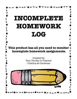 Thank you so much for visiting my TPT store. I truly appreciate your business. I hope you enjoy the quality of this freebie. If you do, I would appreciate it if you could leave positive feedback for this product. This product includes a cover page for your Incomplete Homework Binder, an Incomplete Homework Recording Sheet, andIncomplete Homework Logs.Don't miss a thing, including Flash FREEBIES!
