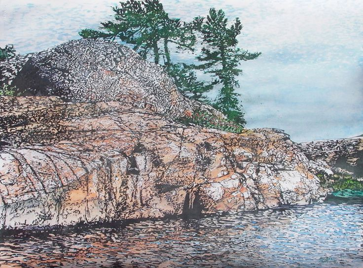 "philip edward isl killarney 22"" x 30"" micheal zarowsky watercolour on arches paper available $2100.00"