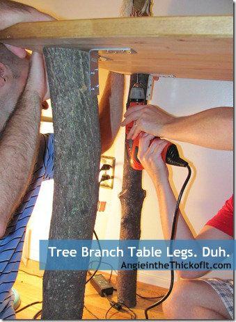 tree limb branch table legs