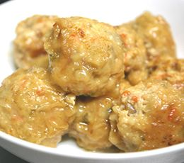 株式会社マルヤナギ小倉屋のレシピページ。「ヘルシー肉団子」の作り方を紹介します。