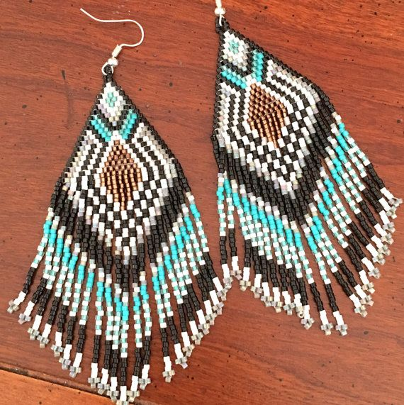 Native American Inspired Fractal  Beaded  Fringe by summerbreezeii