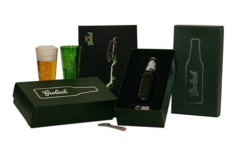 Packaging made for Grolsch. Made by Luxapack.