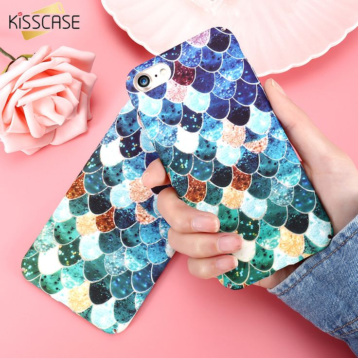 Cheap case for iphone, Buy Quality phone cases directly from China case plus Suppliers: KISSCASE Fish 3D Printing Mermaid Scale Girly Case For iPhone 7 5 Case 6 6S Plus Colorful Phone Case Fundas For iPhone 6 7 5S SE