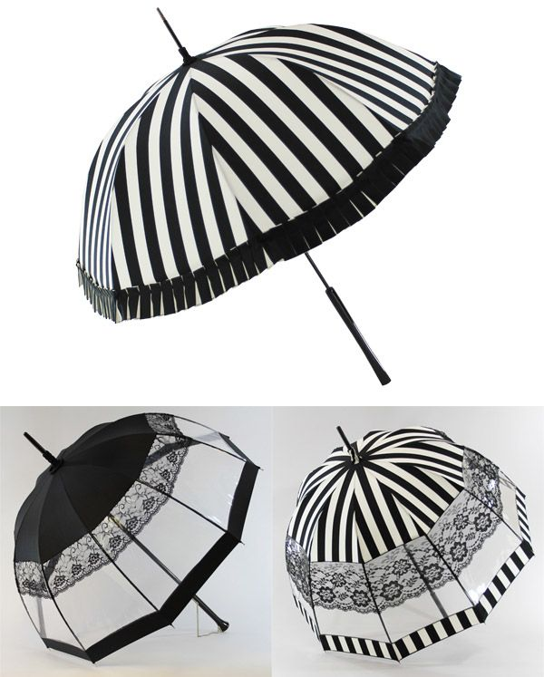 black white umbrellas - by parisian handmade parasol company, parasolerie heurtault