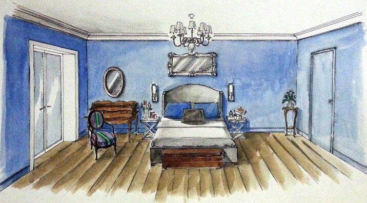 Bedroom design interior illustrations pinterest for Bedroom designs sketch