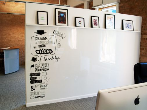 17 best images about office brainstorm area on pinterest for Office whiteboard ideas
