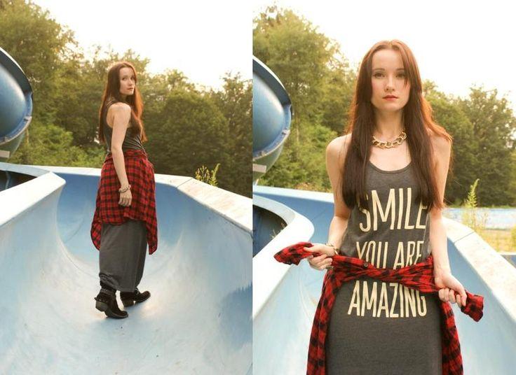 Grunge look with favorite summer dress http://fashion-drift.blogspot.com/2013/07/downhill-drift.html
