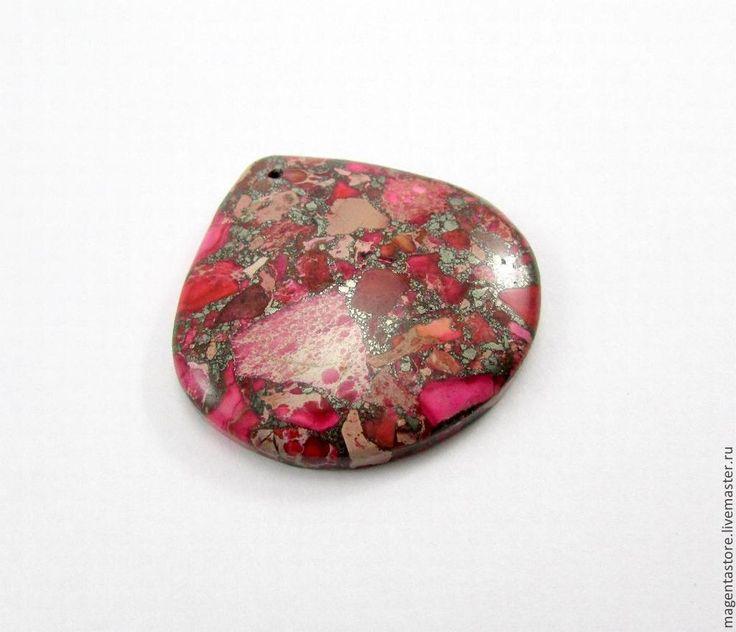 Подвеска - варисцит опресованный с пиритом - яркий,подвеска,кабошон,натуральные камни
