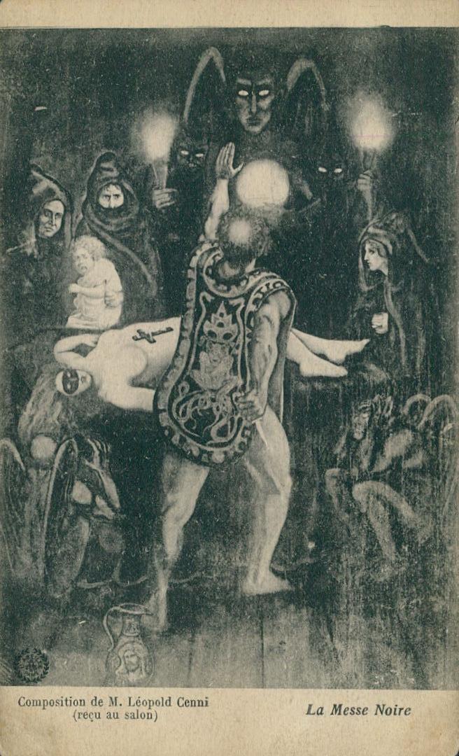 "the-two-germanys: "" La Messe Noire. Léopold Cenni, 1908. Postcard, France. """