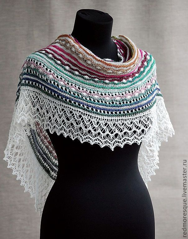 """Buy """"Antique lace"""" shawl - shawl, shawl handmade, noro, wool, lace, accessories, gift"""