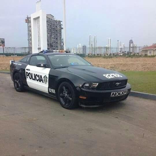 Panama. Carros de la Policia Nacional