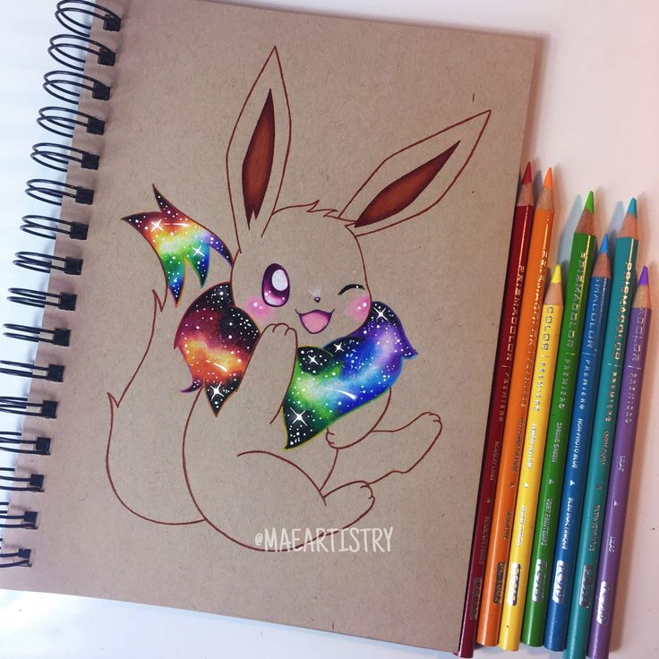 Hey friends! Here's a progress photo of Eevee ❤️ ________ ‣ instagram.com/maeartistry ‣ facebook.com/marilynmaeart ‣ twitter.com/maeartistry ‣ maeartistry.tumblr.com