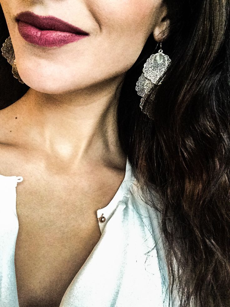 Earrings, white shirt and wavy hair!  Can't wait for the summer!
