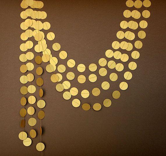 Guirnalda oro - Guirnalda oro viejo - Guirnalda dorada - Boda oro - Decoración fiesta, Guirnaldas de papel, Decoracion cumpleaños, Photocall