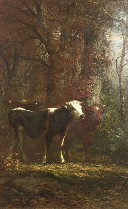 James McDougal Hart (American, 1828-1901) Cow Path