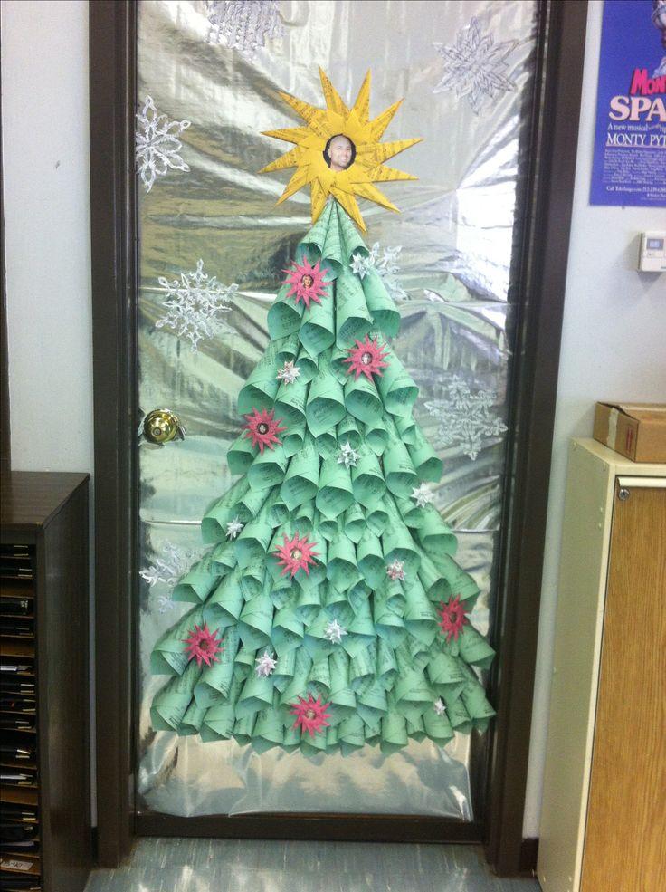 Origami Door Decoration & Origami Christmas Poinsettia Wreath