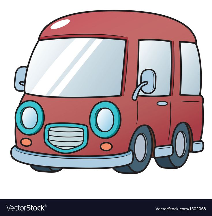 Vector Illustration Of Van Download A Free Preview Or High Quality Adobe Illustrator Ai Eps Pdf And High Resolu Van Cartoon Background Children Illustration