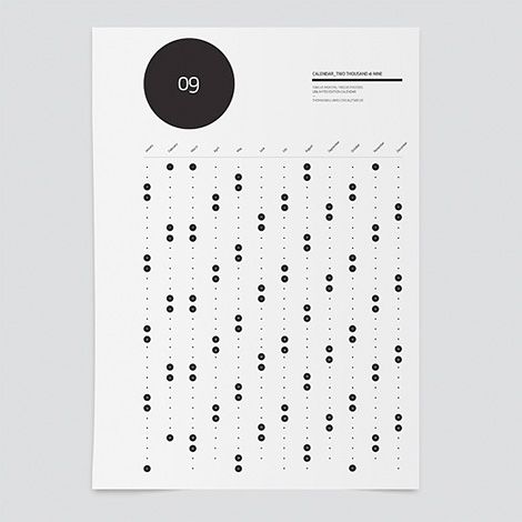 Calendar by Melbourne based graphic designer Thomas Williams