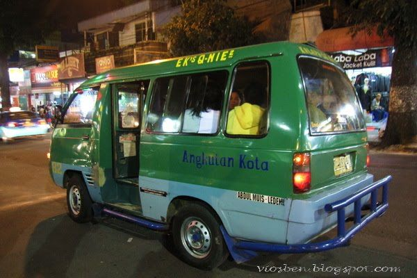 "a public transportation in Bandung called ""angkot"", stands for ""angkutan kota"" (city transport)"