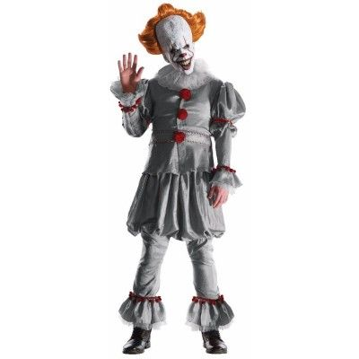 Pennywise, pennywise makeup, pennywise the clown, pennywise costume, popular Halloween costume, pennywise mask, pennywise wig, scary clown costume, scary clown, IT Clown, Clown
