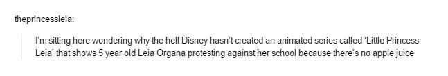 Why hasn't Disney created 'Little Princess Leia'?