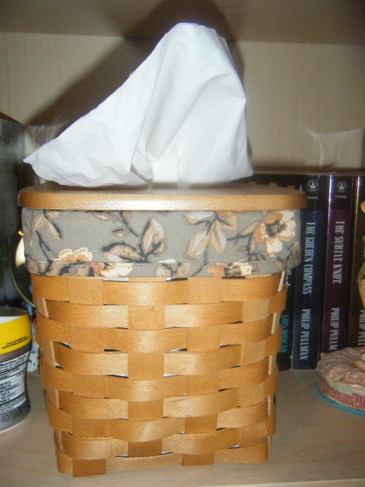 Tall tissue basket with woodcrafts lid longaberger Longaberger basket building for sale