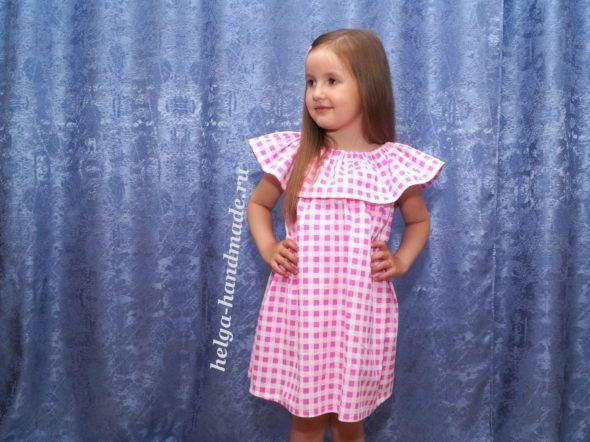 Шьем летнее платье/сарафан для девочек своими руками. Выкройка на примерный рост 104-116 см.