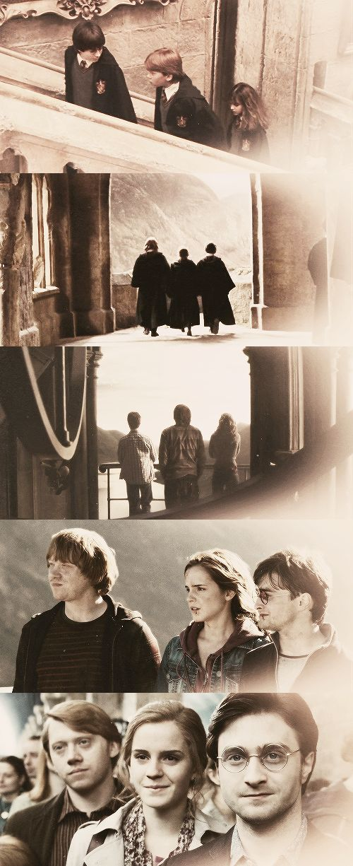 Harry Potter, Ron Weasley, and Hermione Granger
