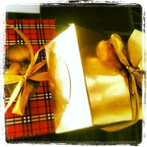 Festive goodies #giftbox #goodies #festive #ribbon