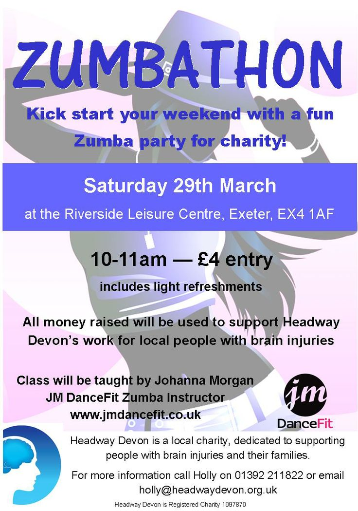 Fundraising Zumba Party - Saturday 29th March - 10-11am - £4 for an hour-long class with Johanna Morgan of JM DanceFit