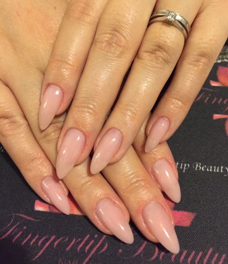 Natural gel overlays nails