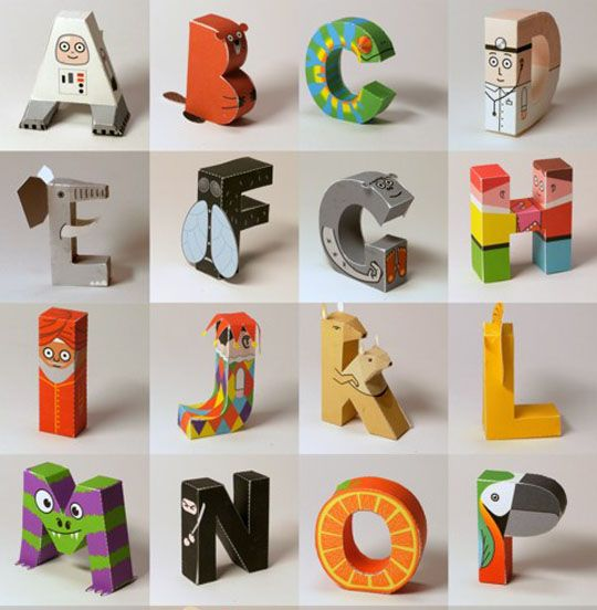 "Papertoy Alphabet- love this! ""i for imam?"""