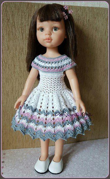 Pin von Doris Rusin auf Häkeln | Pinterest | Puppen, Puppenkleidung ...