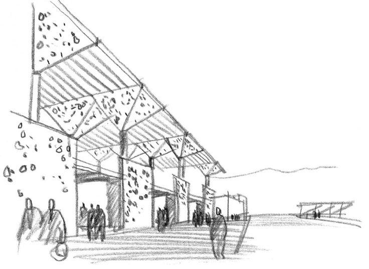 EVP Terceros 2013 Liceo 20. Prof. Alpino: Croquis arquitectónico